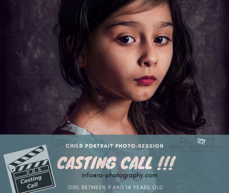 CASTING CALL FOR CHILD PORTRAIT PHOTO SESSION