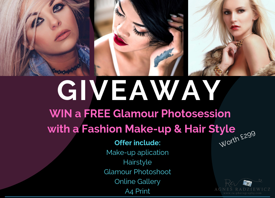 GIVEAWAY – FREE Glamour Photoshoot with a Fashion Make-up & Hairstyle worth £299!