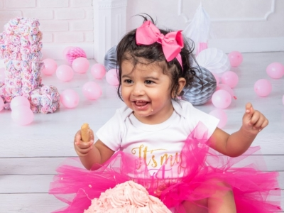 Aleeya's First Birthday Smash ;)